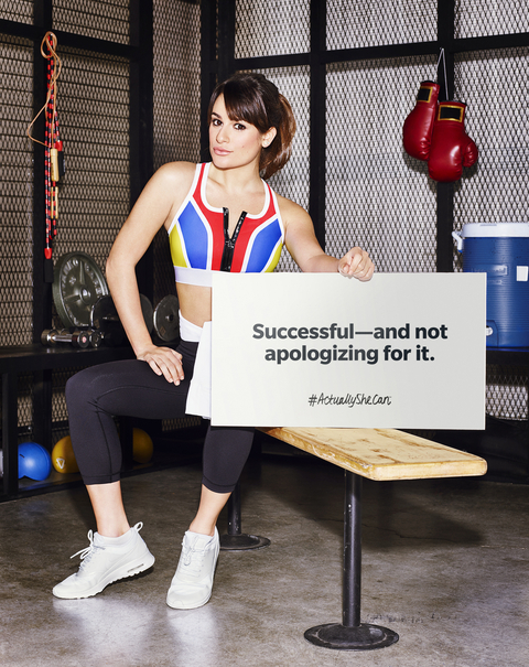 Lea Michele #ActuallySheCan Campaign - Embed 1