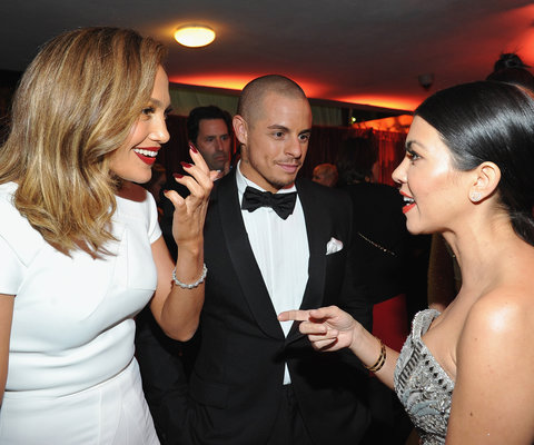 Jennifer Lopez, Casper Smart, and Kourtney Kardashian