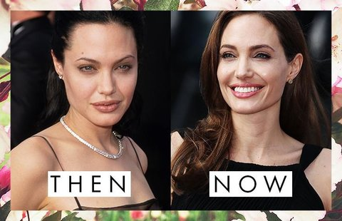 Angelina Jolie's Eyebrows Then and Now