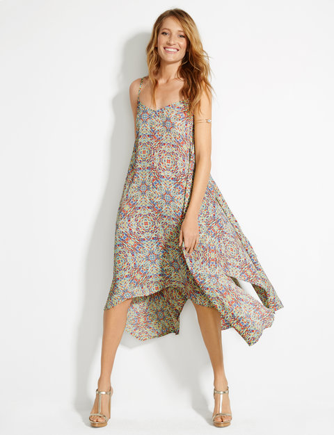 The Limited Native Listicle Trapeze Dress