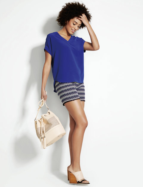 The Limited Native Listicle Striped Short