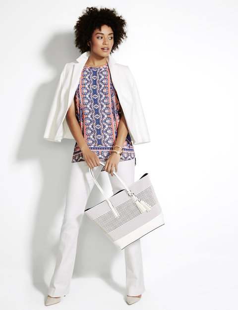 The Limited Native Listicle White Blazer