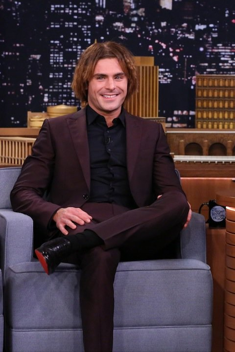 THE TONIGHT SHOW STARRING JIMMY FALLON -- Episode 0474 -- Pictured: Actor Zac Efron on May 18, 2016 -- (Photo by: Andrew Lipovsky/NBC/NBCU Photo Bank via Getty Images)