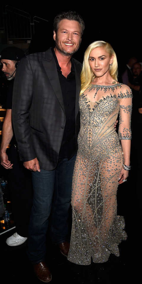 Singers Blake Shelton (L) and Gwen Stefani attend the 2016 Billboard Music Awards at T-Mobile Arena on May 22, 2016 in Las Vegas, Nevada.