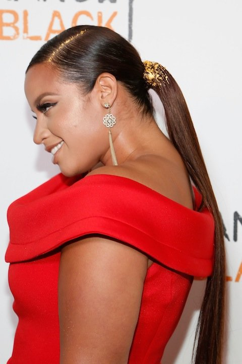 NEW YORK, NY - JUNE 16:  Actress Dascha Polanco attends the premiere of  Orange is the New Black  at SVA Theater on June 16, 2016 in New York City.  (Photo by Taylor Hill/FilmMagic)