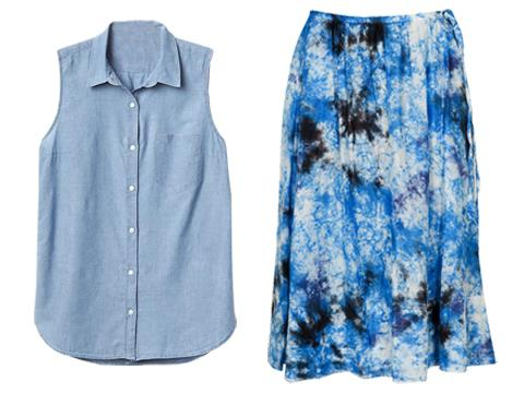 Tied Shirts & Floral Skirts