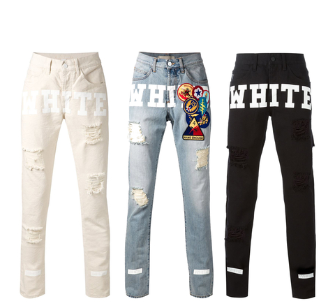 I'm Obsessed Off White Jeans - Embed