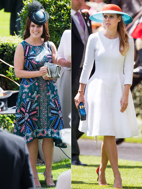 Princess Eugenie and Princess Beatrice - Royal Ascot Day