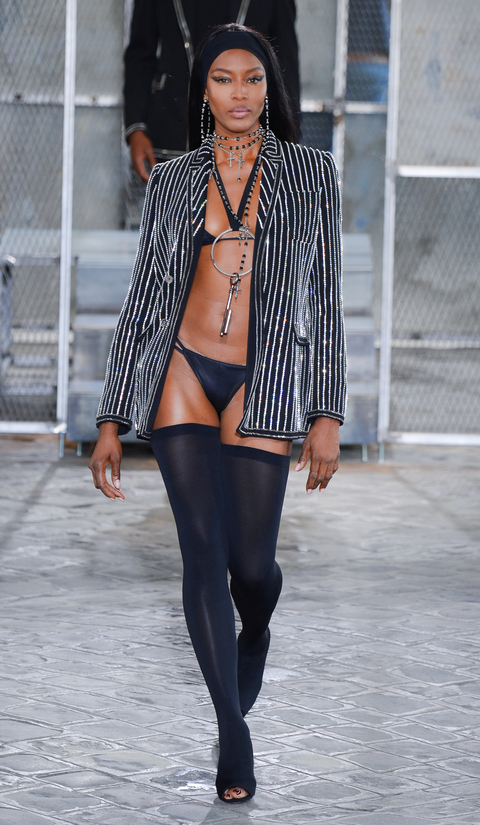 Naomi Campbell walks the runway during the Givenchy Menswear Spring/Summer 2016 show as part of Paris Fashion Week on June 26, 2015 in Paris, France.