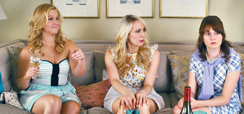 TRAINWRECK, from left: Amy Schumer, Nikki Glaser, Claudia O'Doherty, 2015. ©Universal