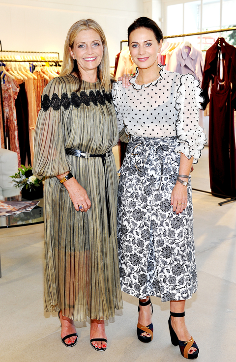 Simone Zimmermann (L) and Nicky Zimmermann host the opening of the ZIMMERMANN Melrose Place Flagship Store on July 29, 2015 in Los Angeles, California.