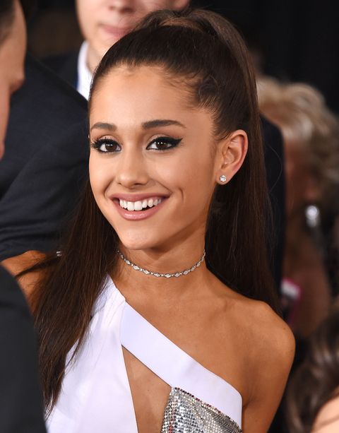 Ariana Grande arrives at the The 57th Annual GRAMMY Awards on February 8, 2015 in Los Angeles, California.