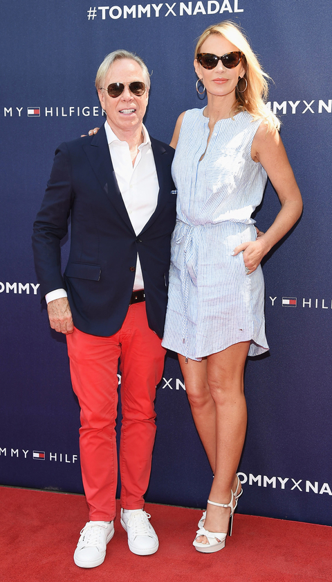 Tommy Hilfiger and Dee Hilfiger attend the Tommy Hilfiger And Rafael Nadal Launch Global Brand Ambassadorship at Bryant Park on August 25, 2015 in New York City.
