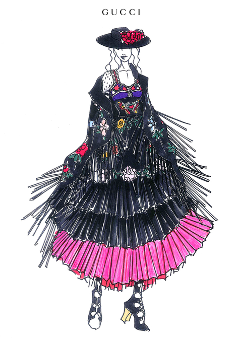 Madonna Gucci Tour Costumes