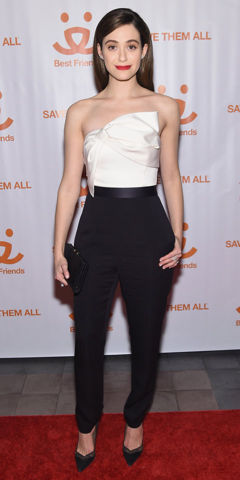 Actress Emmy Rossum attends the New York Notables Gathering at the Best Friends Animal Society Benefit to Save Them All on March 8, 2016 in New York City.