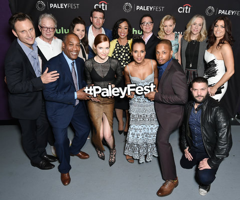 Cast and creatives of Scandal at PaleyFest LA 2016 honoring Scandal, presented by The Paley Center for Media, at the Dolby Theatre on March 15, 2016 in Hollywood, California.