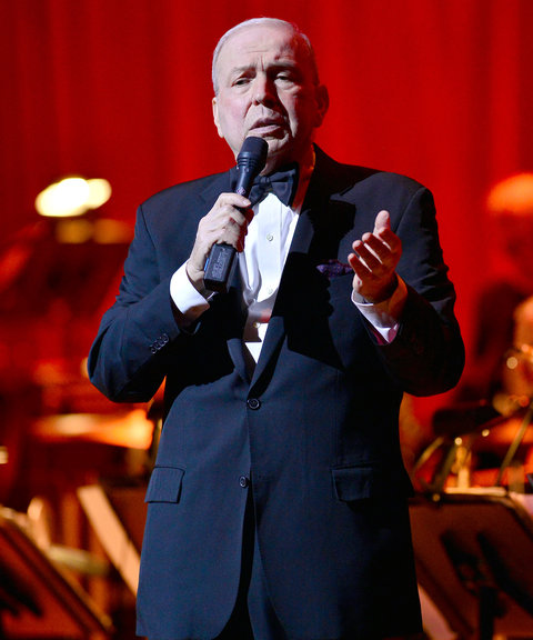 Frank Sinatra Jr. performs during the Jazz Roots: Frank Sinatra Jr. Sings Sinatra, a Multimedia Centennial Celebration at the Knight Concert Hall within the Adrienne Arsht Center on March 11, 2016 in Miami, Florida.