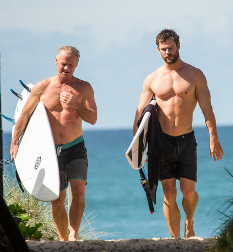 Chris Hemsworth -  April 17, 2016 in Byron Bay, Australia EMBED