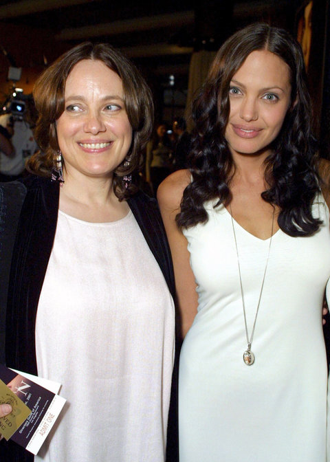 Angelina Jolie and Marcheline Bertrand
