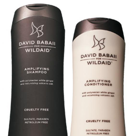 David Babaii for Wildaid Amplifying Shampoo and Conditioner