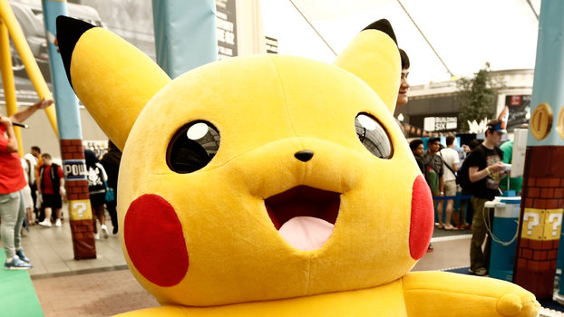 LONDON, ENGLAND - JULY 10: A life size Pikachu character from the anime and game series 'Pokemon' at Hyper Japan, the UK's biggest Japanese culture event on July 10, 2015 at The O2 Arena in London, England.  (Photo by Daniel Sims/Getty Images)