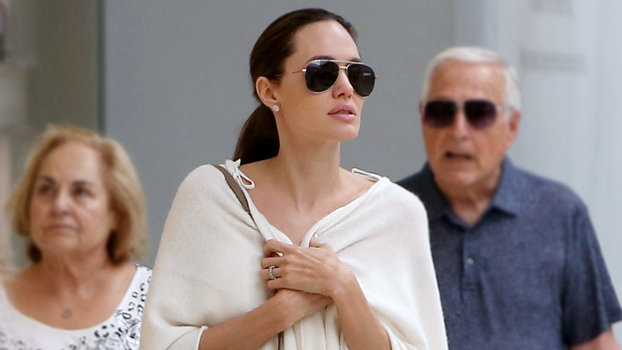 Angelina Jolie Looks Seriously Angelic During a Trip to the Mall with Her Kids