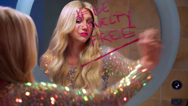 Kesha supports the Humane Society's No Animal Testing Campaign