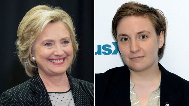 Lena Dunham and Hillary Clinton