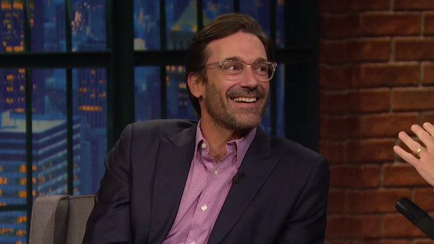 Jon Hamm on Seth Meyers