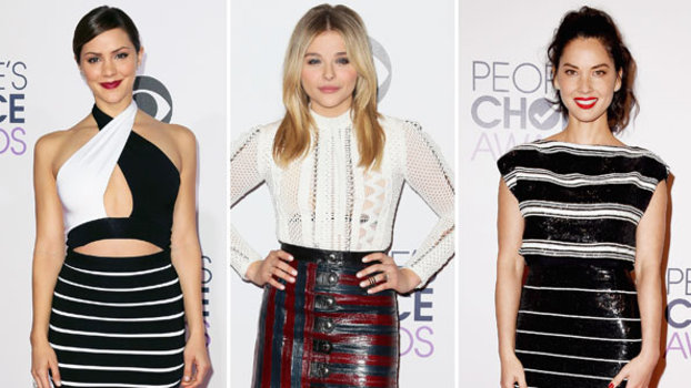 Stripe trend at People's Choice Awards