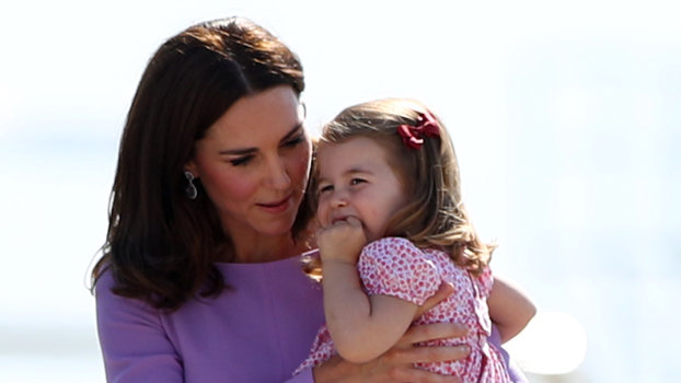 Kate Middleton and Princess Charlotte lead