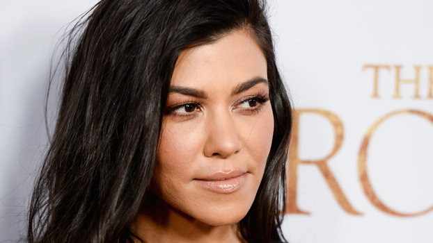 Kourtney Kardashian Serves Some Major Butt Cleavage in a Backless Gown