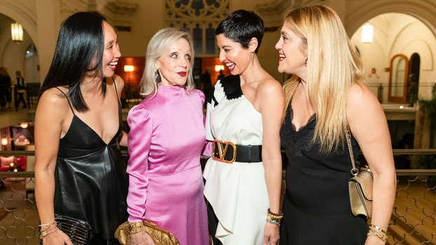 Valentino Party San Francisco 2019: Carolyn Chang, Barbara Brown, Chrisa Pappas, Kathy Gohari
