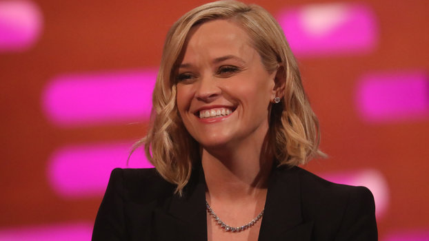 Reese Witherspoon wearing Vrai earrings and necklace