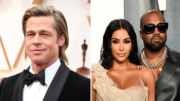 You Missed Brad Pitt's Moment With Kim Kardashian and Kanye West at the Oscars