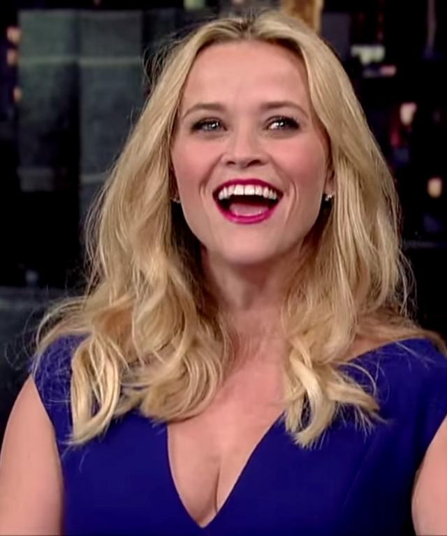 May 5, 2015- Reese Witherspoon on the 'Late Show' with David Letterman in NY, NY