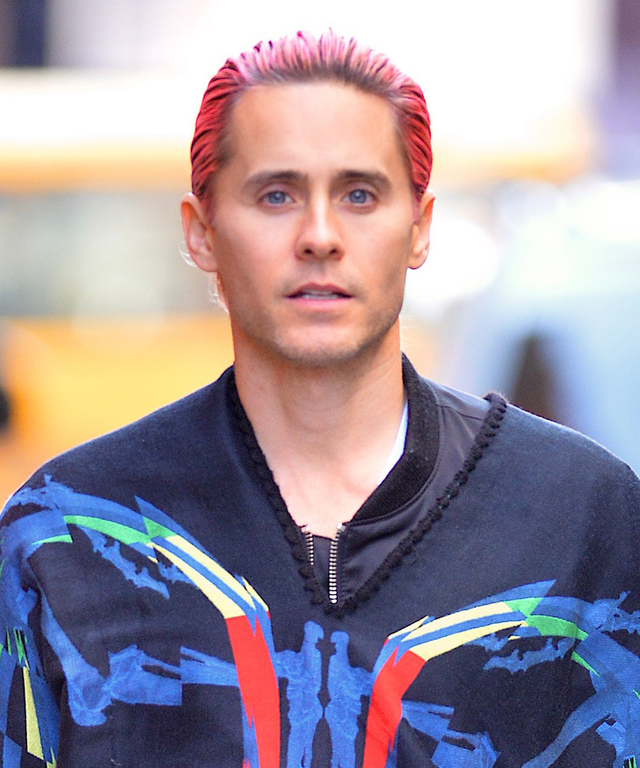 NEW YORK, NY - OCTOBER 08:  Jared Leto seen in SoHo on October 8, 2015 in New York City.  (Photo by Robert Kamau/GC Images)