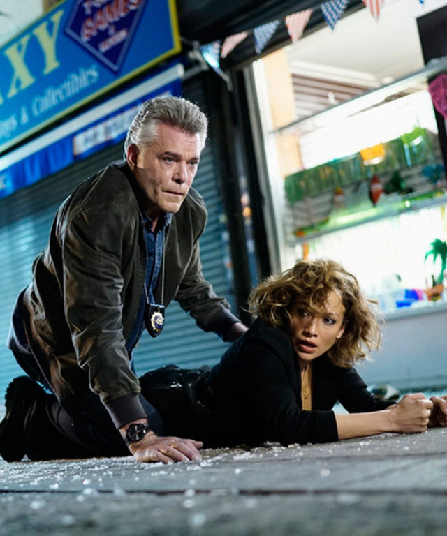 2015 NBCUniversal Media, LLC SHADES OF BLUE --  Original Sin  Episode 102 -- Pictured: (l-r)  Ray Liotta as Bill Wozniak, Jennifer Lopez as Harlee Santos --  (Photo by: Peter Kramer/NBC)