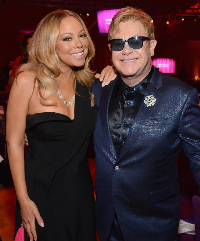 Mariah Carey and Sir Elton John