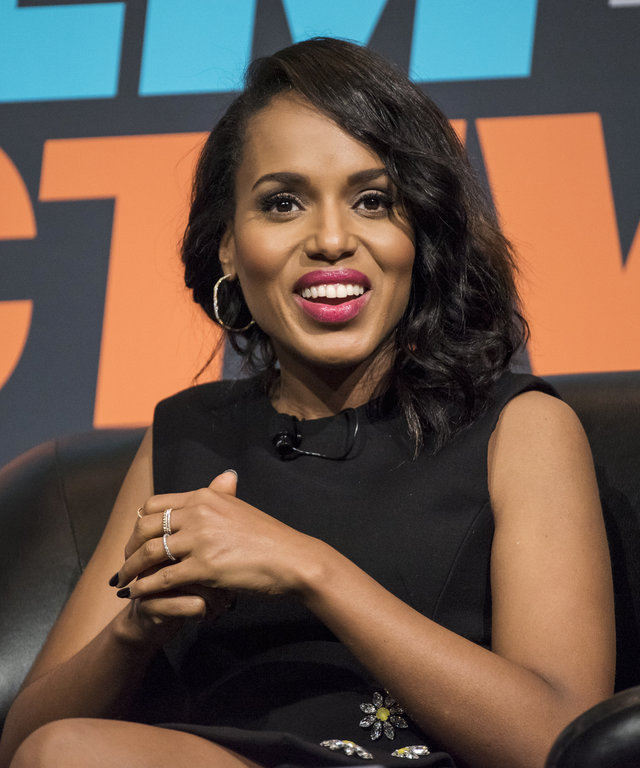 Actress Kerry Washington smiles during the South By Southwest (SXSW) Interactive Festival at the Austin Convention Center in Austin, Texas, U.S., on Sunday, March 13, 2016. The SXSW Interactive Festival features presentations and panels from the brightest