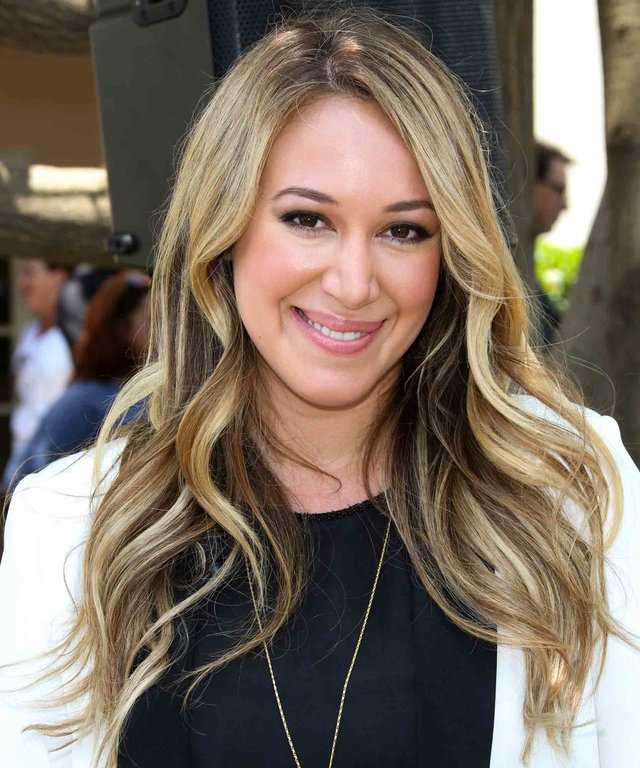 CENTURY CITY, CA - JUNE 09:  Actress Haylie Duff attends  Napoleon Dynamite  10 sweet years Blu-Ray/DVD release and statue dedication at The Fox Studio Lot on June 9, 2014 in Century City, California.  (Photo by Paul Archuleta/FilmMagic)