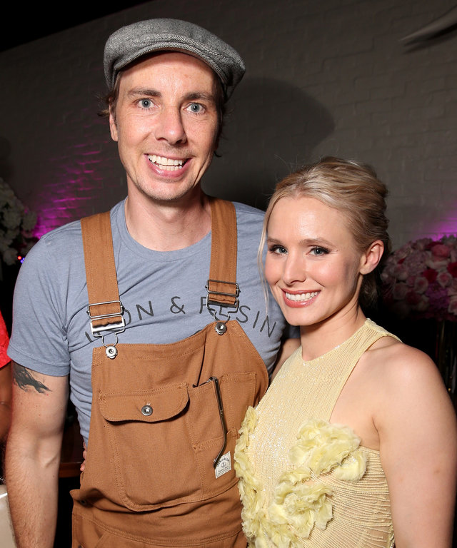 LOS ANGELES, CA - JULY 26:  Dax Sheperd and Kristen Bell attend the after party for the premiere of STX Entertainment's  Bad Moms  at  on July 26, 2016 in Los Angeles, California.  (Photo by Todd Williamson/Getty Images)