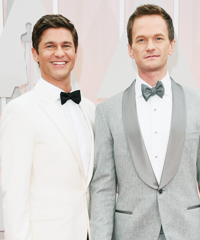 HOLLYWOOD, CA - FEBRUARY 22:  Host Neil Patrick Harris (R) and actor David Burtka attend the 87th Annual Academy Awards at Hollywood & Highland Center on February 22, 2015 in Hollywood, California.  (Photo by Jason Merritt/Getty Images)
