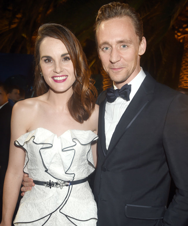LOS ANGELES, CA - SEPTEMBER 18:  Actors Michelle Dockery (L) and Tom Hiddleston attend HBO's Official 2016 Emmy After Party at The Plaza at the Pacific Design Center on September 18, 2016 in Los Angeles, California.  (Photo by Jeff Kravitz/FilmMagic)