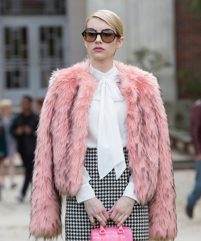 SCREAM QUEENS: Emma Roberts as Chanel Oberlin in  Pilot,  the first part of the special, two-hour series premiere of SCREAM QUEENS airing Tuesday, Sept. 22 (8:00-10:00 PM ET/PT) on FOX. (Photo by FOX via Getty Images)
