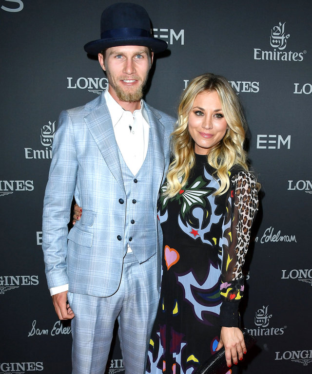 LONG BEACH, CA - SEPTEMBER 29:  Kaley Cuoco, Karl Cook arrives at the Longines Masters Los Angeles - Gala at Long Beach Convention Center on September 29, 2016 in Long Beach, California.  (Photo by Steve Granitz/WireImage)