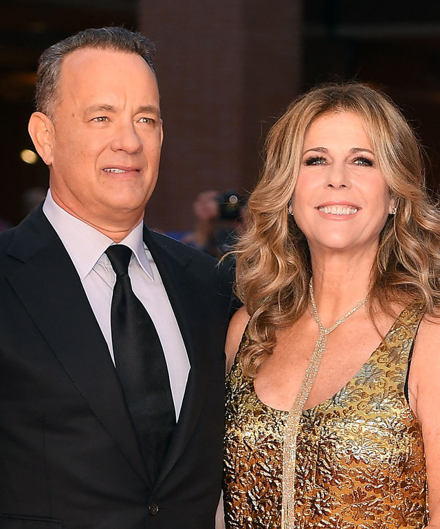 ROME, ITALY - OCTOBER 13:  Tom Hanks and Rita Wilson walk a red carpet at Auditorium Parco Della Musica on October 13, 2016 in Rome, Italy.  (Photo by Venturelli/WireImage)