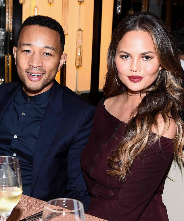 NEW YORK, NY - OCTOBER 13:  John Legend and Chrissy Teigen attend a Dinner hosted by Chrissy Teigen and Mario Batali part of the Bank of America Dinner series curated by Chefs Club at Bank of America Building on October 13, 2016 in New York City.
