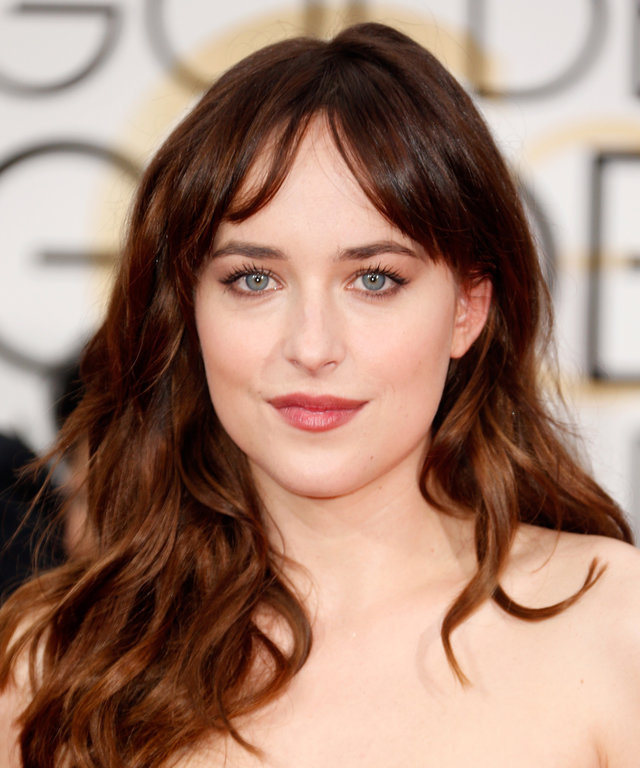 BEVERLY HILLS, CA - JANUARY 11:  Actress Dakota Johnson attends the 72nd Annual Golden Globe Awards at The Beverly Hilton Hotel on January 11, 2015 in Beverly Hills, California.  (Photo by Jeff Vespa/WireImage)