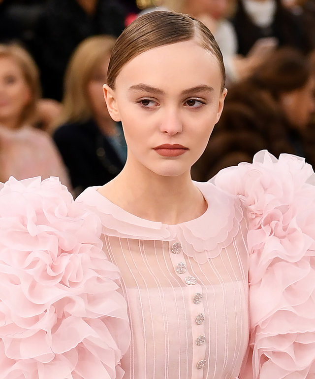 Mandatory Credit: Photo by David Fisher/REX/Shutterstock (7985290bc) Lily-Rose Depp on the catwalk Chanel show, Spring Summer 2017, Haute Couture Fashion Week, Paris, France - 24 Jan 2017